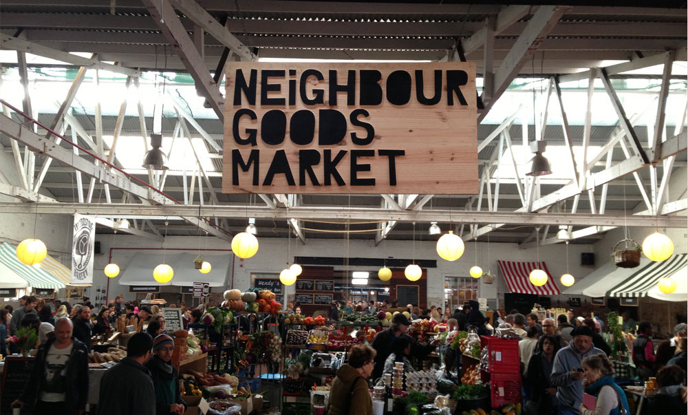 the neighborhoods market at the old biscuit mill