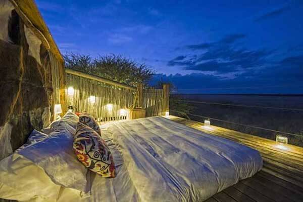 sleep out deck Kalahari Plains Camp. © Wilderness Safaris.