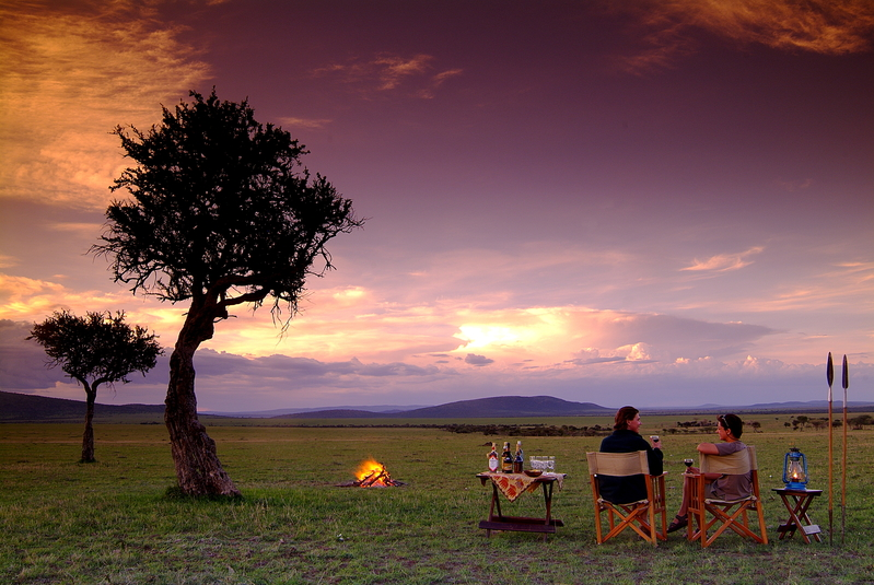 sundowner in Kenya