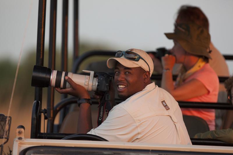 botswana safari guide in action