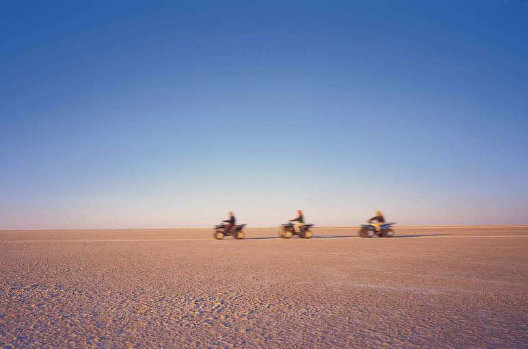 ATVs Exploring the Makgadikgadi Salt Pans