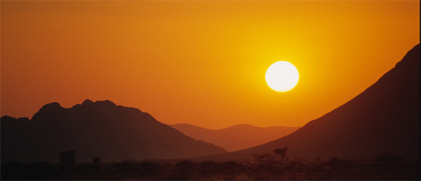 Sunset in Namibia, Africa